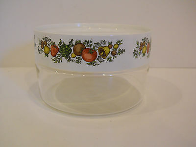 #2 PYREX CORNING WARE SPICE OF LIFE CANISTER VINTAGE 1 QT SHORT GLASS