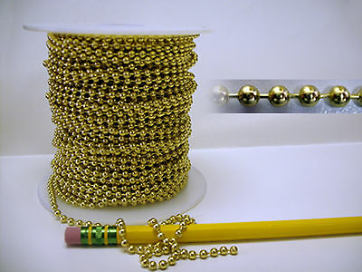 Stained Glass Supplies - 3 ft Solid Brass Ball Chain