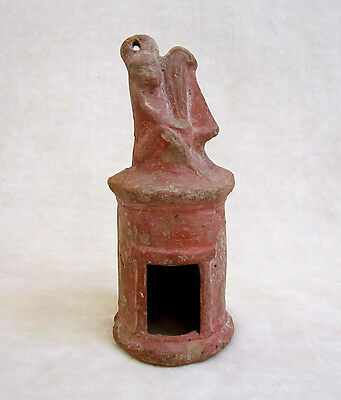 ANCIENT ROMAN/EGYPTIAN TERRACOTTA LANTERN WITH MONKEY, circa 2nd Century A.D.