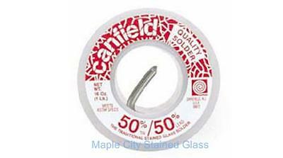 Stained Glass Canfield 50/50 Solder  1 lb.Spool Premium Solder, Made in USA