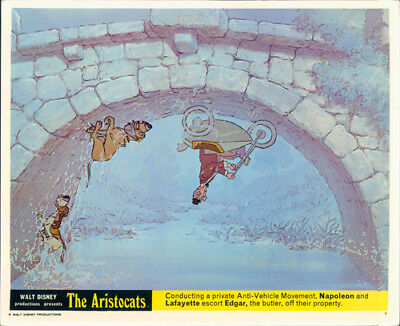 The Aristocats Original Walt Disney Lobby Card Lafayette Napoleon Edgar Rare