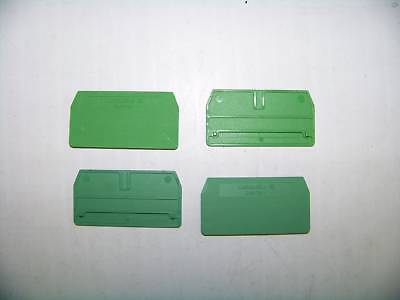 Weidmuller #ZAPTW1 Terminal End Barrier 1 Bag Of 5 New WC1/20