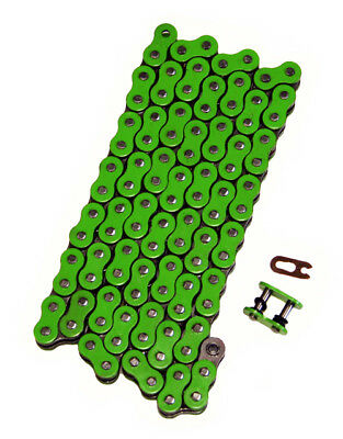 Green 525x130 O-Ring Drive Chain Motorcycle 525 Pitch 130 Links 8200# Tensile