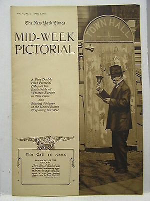 April 5,1917 NY TIMES Mid-Week Pictorial Magazine-War Map/Russian Revolution/WW1