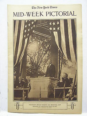 1917 NY TIMES Mid-Week Pictorial Magazine Special-Wilson/Recruting Poster/WW1