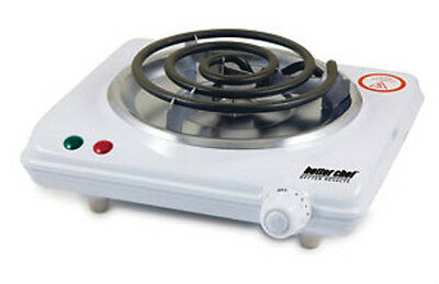 Better Chef 1000Watt White Hot Plate Electric Countertop Range