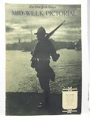 Sept 20,1917 NY TIMES Mid-Week Pictorial Magazine-NY On Guard/German BiPlane/WW1