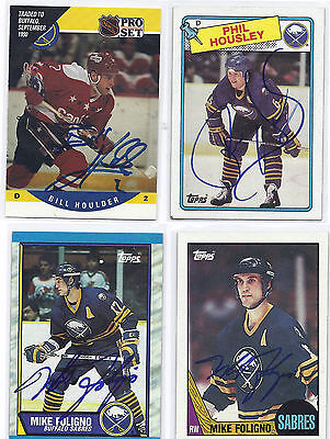 Bill Houlder Signed / Autographed Hockey Card Buffalo Sabres 1990 Pro Set