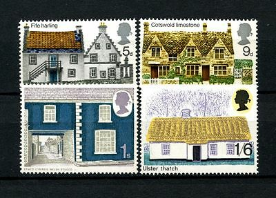 GB 1970 SG#815-818 Rural Architecture MNH Set #A26341
