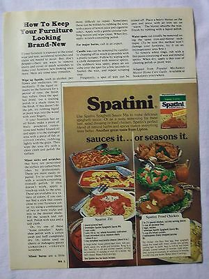 1979 Magazine Advertisement Page For Spatini Spaghetti Sauce Mix Vintage Ad