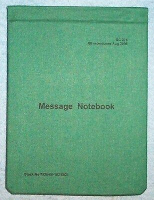 Aussie Army Field Message Notebook - Digger's Writing Pad