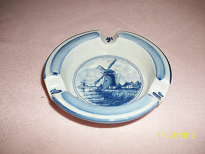Delft Blue Hand painted Ashtray. Made in Holland. Zenith Gouda.