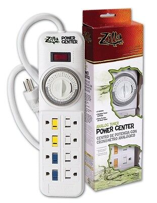 Zilla Reptile Analog Timer Power Center 8 outlet