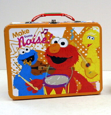 Sesame Street Elmo Large Carry All Tin Tote Lunchbox Style A NEW UNUSED
