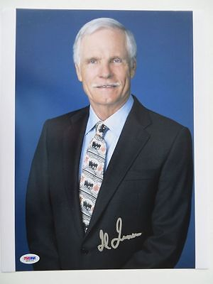 Ted Turner Signed CNN Braves Authentic Autographed 11x14 Photo (PSA/DNA) #M59102