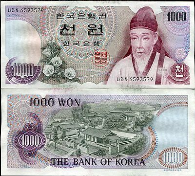 South Korea 1000 1,000 Won P 44 Aunc Stain See Scan #1