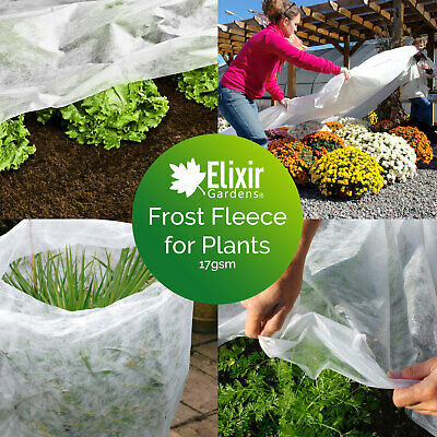 2M Wide Garden Cold / Frost / Wind Fleece for Winter Plant Protection | 5 - 50M