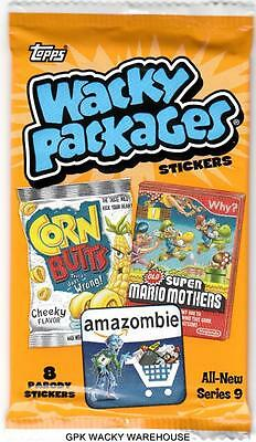 Rare 2012 Wacky Packages Series 9 Ans (5) Sealed Pack Look For Inserts Cards