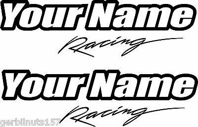 PERSONALIZED NAME DECALS racing business stickers custom made