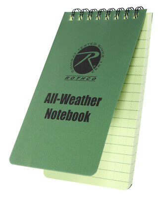 18e56c7dc119 2 PACK ROTHCO Police Duty All Weather Waterproof Notebook Pocket ...