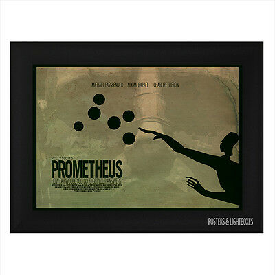 PROMETHEUS Minimalist Framed Movie Poster A4 Black Frame