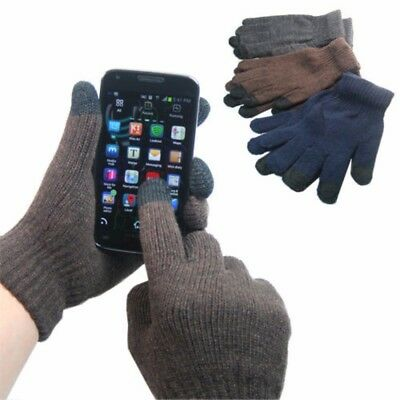 2-Pack: Men's Conductive Touch Screen Gloves