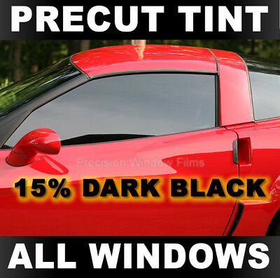 Chevy Malibu Sedan 97-04 PreCut Window Tint Dark Black 15% VLT Film