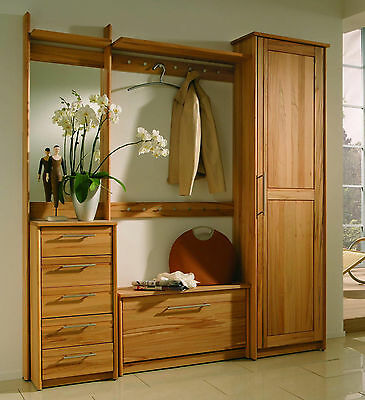 hutablage garderobe wandgarderobe flurm bel kernbuche holz. Black Bedroom Furniture Sets. Home Design Ideas