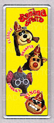 THE BANANA SPLITS large FRIDGE MAGNET -RETRO COOL!