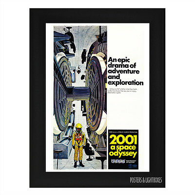 2001 A Space Odyssey Framed Film Movie Poster A4 Black Frame
