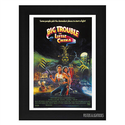 BIG TROUBLE IN LITTLE CHINA Framed Film Movie Poster A4 Black Frame
