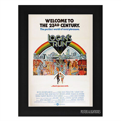 LOGANS RUN Framed Film Movie Poster A4 Black Frame