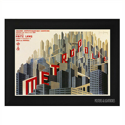 METROPOLIS Ref 01 Framed Film Movie Poster A4 Black Frame