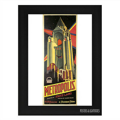METROPOLIS Ref 04 Framed Film Movie Poster A4 Black Frame
