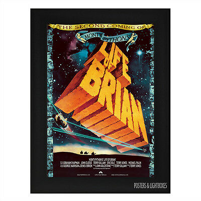 MONTY PYTHONS LIFE OF BRIAN Framed Film Movie Poster A4 Black Frame