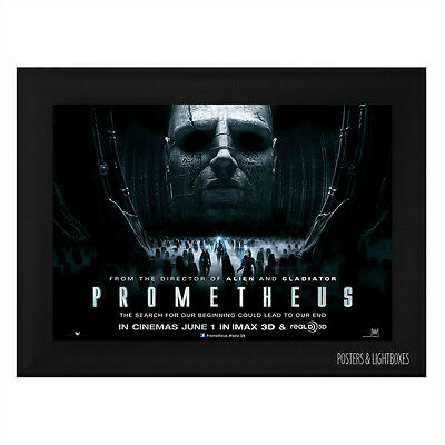 PROMETHEUS Ref 01 Framed Film Movie Poster A4 Black Frame