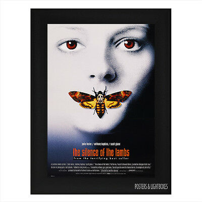 SILENCE OF THE LAMBS Framed Film Movie Poster A4 Black Frame