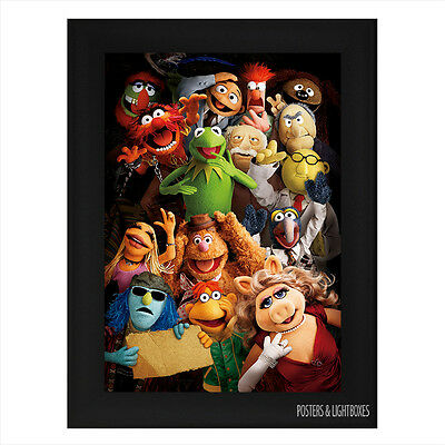 THE MUPPETS Framed Film Movie Poster A4 Black Frame