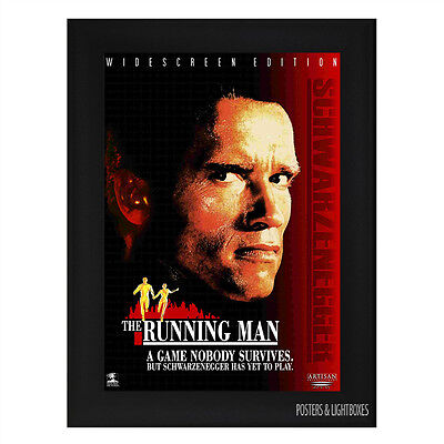 THE RUNNING MAN SCHWARZENEGGER Framed Film Movie Poster A4 Black Frame