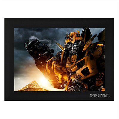 TRANSFORMERS BUMBLEBEE Ref 02 Framed Film Movie Poster A4 Black Frame