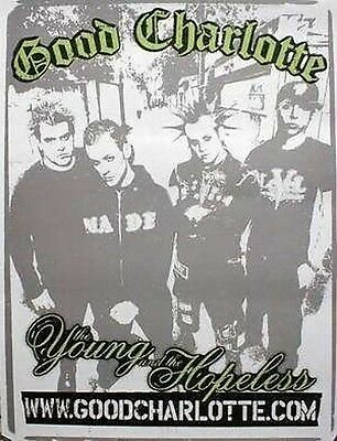 GOOD CHARLOTTE 2003 young and hopeless promo poster ~MINT~NEW old stock~!!