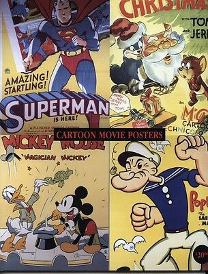 B065 Cartoon Movie Posters (Volume: 1) Book with 393 full-color illustrations