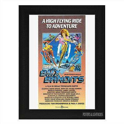 BMX BANDITS CLASSIC Framed Film Movie Poster A4 Black Frame
