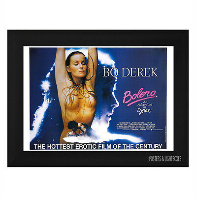 BOLERO BO DEREK CLASSIC Framed Film Movie Poster A4 Black Frame