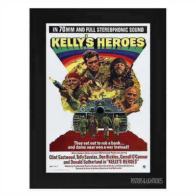 KELLYS HEROES Framed Film Movie Poster A4 Black Frame CLINT EASTWOOD