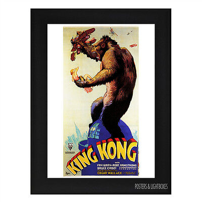KING KONG 1933 CLASSIC Framed Film Movie Poster A4 Black Frame