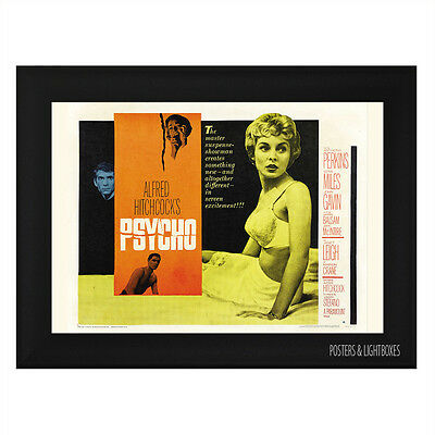 PSYCHO CLASSIC Framed Film Movie Poster A4 Black Frame