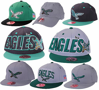 8e1a17af1 PHILADELPHIA EAGLES NFL Mitchell & Ness Throwback Fitted Hats | Flat Brim
