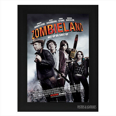 ZOMBIELAND Framed Film Movie Poster A4 Black Frame