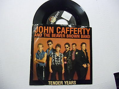 John Cafferty & Brown Beaver Band Tender Years/Down On My Knees 45 RPM